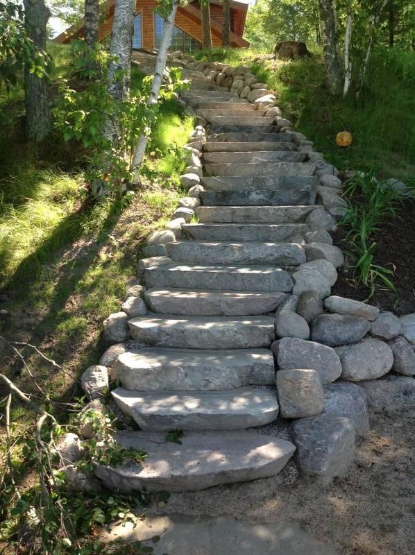 Stairs Plants Shrubs Landscape Design Brainerd Minnesota